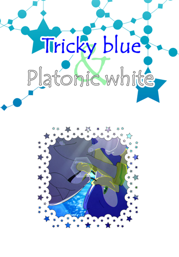 Tricky blue & Platonic white
