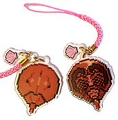 Horseshoe Crab Double Sided Acrylic Charm - PinkShell